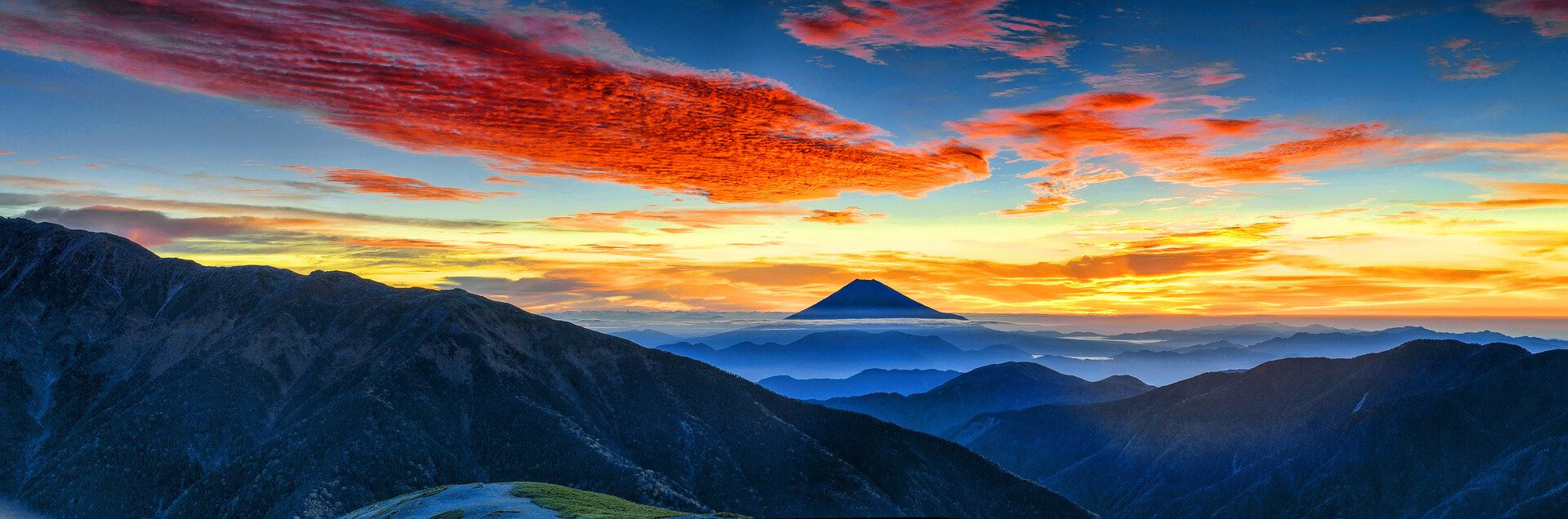 Bücher Vulkane Roter Himmel